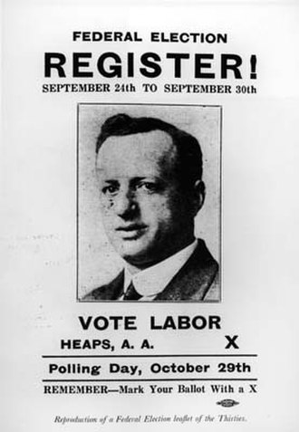 Abraham Albert Heaps - 1930 election leaflet