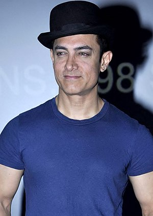 Aamir Khan - Khan at an event for Dhoom 3 in 2013
