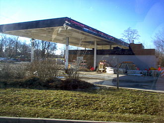Amoco - An abandoned Amoco station.