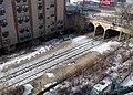 Abandoned platform at East New York station from above, December 2017.JPG