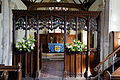 Abbess Roding - St Edmund's Church - Essex England - chancel arch screen from nave.jpg