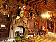 scottish homes and interiors. the entrance hall of abbotsford house, which helped define synthesised victorian renaissance style scots baronial interior scottish homes and interiors