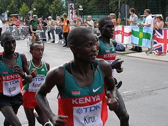 Abel Kirui - Abel Kirui en route to his World Championship gold medal
