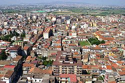 Aerial photo of Acerra