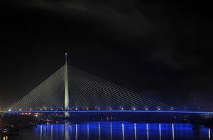 Ada Bridge - Bridge at night