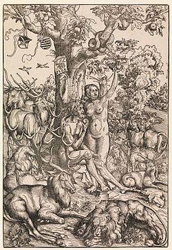 Adam & Eve woodcut