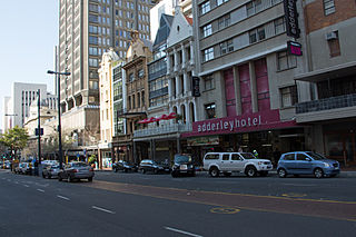 Adderley Street street in Cape Town, South Africa