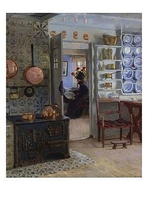 Adolf Heinrich-Hansen - Image: Adolf Heinrich Hansen A Woman Reading in an Interior