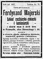 Advertisement Ferdynand Majerski (1912).JPG