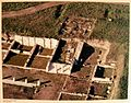 Aerial photograph of workshops outside the Agora, Archaeological Museum, Pella (7075990057).jpg