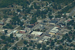 Gallatin, Missouri - Aerial view of Gallatin, Missouri
