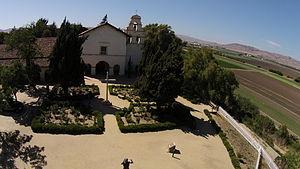 Mission San Juan Bautista - Aerial view of Mission San Juan Bautista