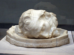 Aguste Rodin. The Severed Head of Saint John t...