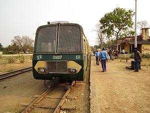 McLeod's Light Railways - Ahmedpur to Katwa NG train at Ahmedpur Jn., Birbhum.
