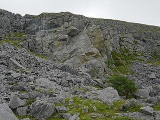 Aill na Cronain Inland limestone cliff in The Burren, Ireland