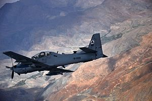 Air-to-air with Afghan Air Force Embraer A-29 Super Tucano.jpg