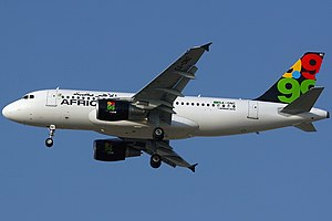 Afriqiyah Airways - Afriqiyah Airways Airbus A319-100  wearing the former livery