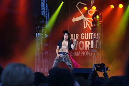 "Kevin ""Narvalwaker"" Leloux at the 2010 Air Guitar World Championships in Oulu, Finland Airguitar WC2010 1.JPG"