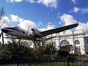 Croydon Airport - The de Havilland Heron outside Airport House