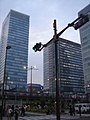 Akihabara Daibiru buildings, Akihabara UDX, and Akihabara Station Center Square (2008-04-20 18.08.31 by shibainu).jpg