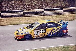 Alain Menu - Menu driving for Renault in the 1996 British Touring Car Championship season.