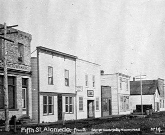 Alameda, Saskatchewan - Fifth Street in 1908