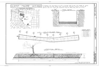 Acequia Madre de Valero (San Antonio) - HABS drawing of the acequia