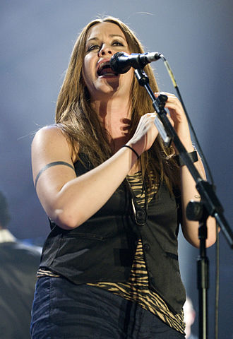 Alanis Morissette - Morissette during a concert in Barcelona, June 2008