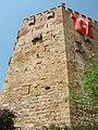 Alanya Blick zum Seldschukischen Roten Turm am Hafen - panoramio.jpg