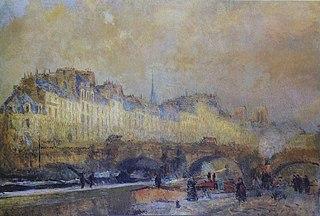 Paris, l'écluse de la Monnaie. Soleil d'hiver