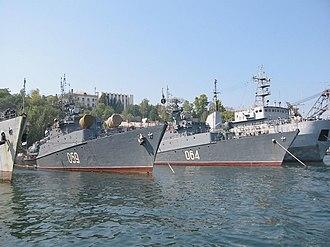 Sevastopol Naval Base - Image: Aleksandrovets&Murom ets 2005Sevastopol