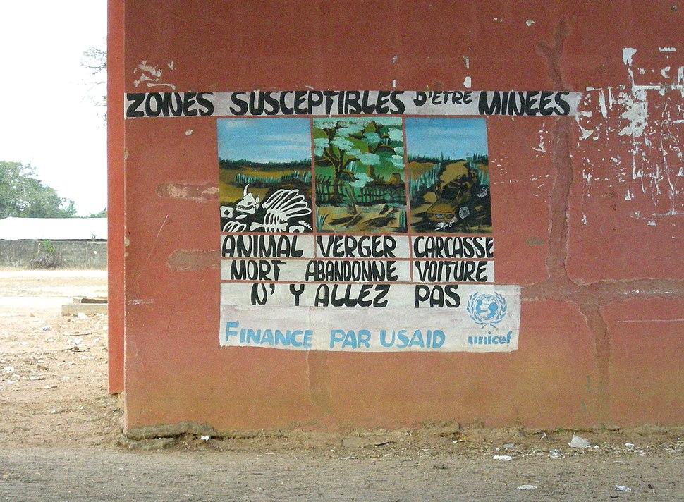 Alerte aux mines terrestres à Oussouye