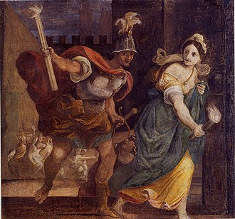 Thaïs - Thaïs leads Alexander to start the fire, Ludovico Carracci, c. 1592