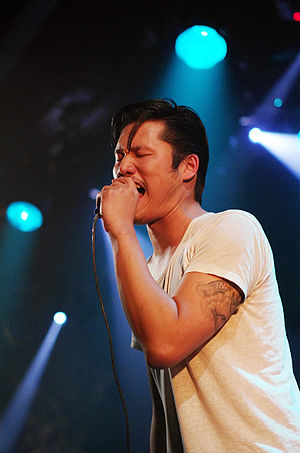 Dirty Beaches - Alex Zhang Hungtai performing in Paris, on February 19, 2012
