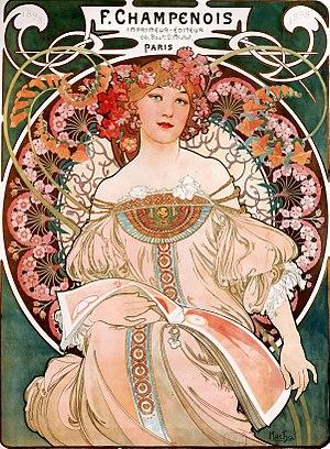 Art Nouveau - Image: Alfons Mucha F. Champenois Imprimeur Éditeur