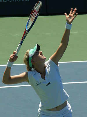 Alison Riske - Alison Riske in action during the 2010 Bank of the West Classic.