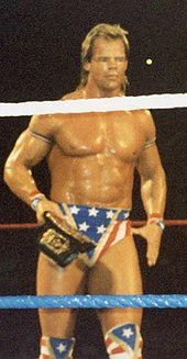 luger in his all american attire