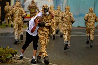 Qatar Armed Forces - Qatar Armed Forces in training.