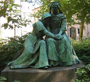 Alsace-Lorraine - The loss of Alsace and Lorraine personified – statue in Nancy, in the French part of Lorraine.