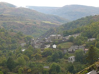 Altier - A view of the Altier, seen from the nearby hillside