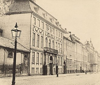 Yellow Mansion, Copenhagen - The building in the 1870s