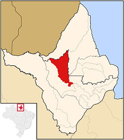Location in Amapá  state
