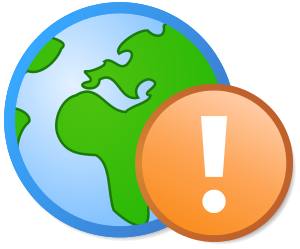 A globe icon in the Ambox-content style