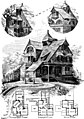 American cottages; consisting of fouty-four large quarto plates, containing original designs of medium and low cost cottages, seaside and country houses. Also, a club house, pavilion (1883) (14590308199).jpg