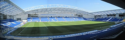 Falmer Stadium, home of Brighton & Hove Albion Football Club Amex Stadium Pitch panorama - geograph.org.uk - 2859086.jpg