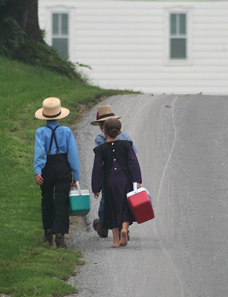 File:Amish On the way to school by Gadjoboy2.jpg