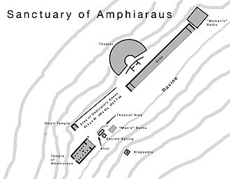 Amphiareion of Oropos - Plan of the Sanctuary of Amphiaraus.