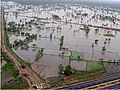 An aerial view taken from the IAF relief Helicopter of the flood-affected areas in Gujarat on July 3, 2005 (8).jpg