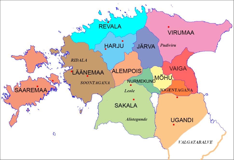 Ancient Estonian counties