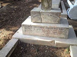 Lewis Yelland Andrews - Grave of Lewis Yelland Andrews in the Mount Zion Cemetery, Jerusalem